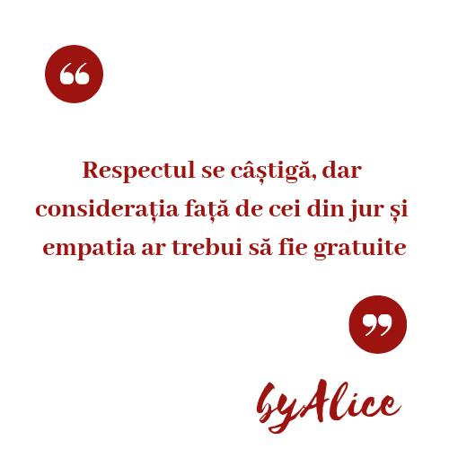 12 - Respectul se câștigă